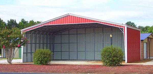 Custom Steel Metal Building 40 Foot Wide Vertical Roof Gainesville, FL