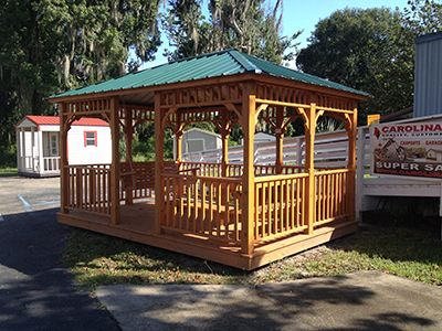 Gazebo Gainesville, Florida Size 10x14 Metal Roof