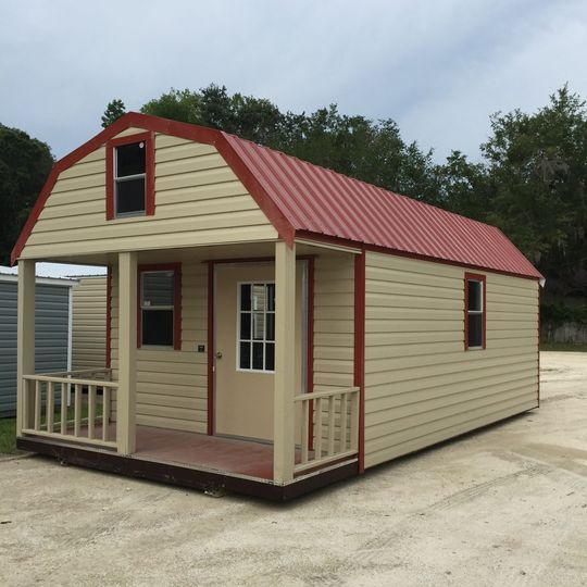 Lofted Barn Cabin Metal Shed Storage Building Gainesville, FL