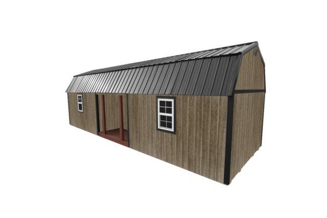 Wooden Cabin Recessed Lofted Barn Cabin