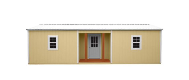 Wooden Cabin Recessed Side Porch Cabin