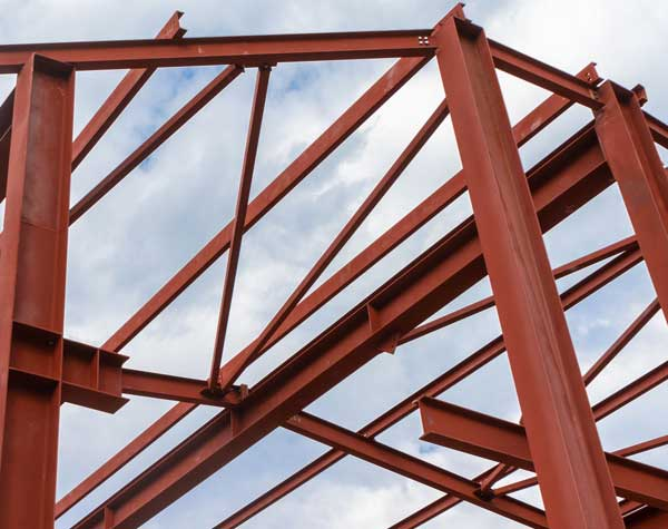Red Iron Building Construction Erection