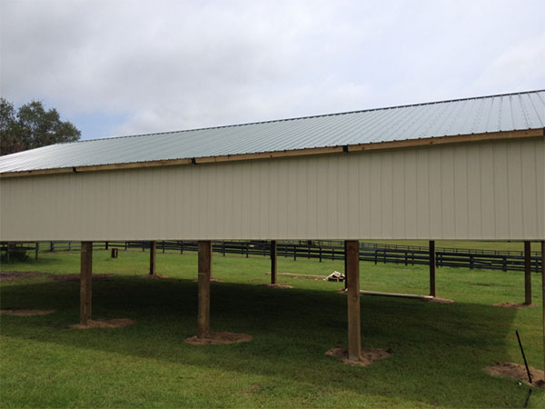 Commercial Open Pole Barn Storage Shed Florida.