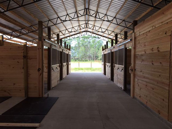 Inside Horse Barn Stable in Florida.