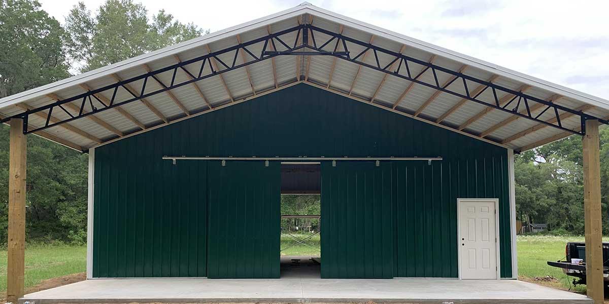 Pole Barn Manufacturer, Construction in Florida.